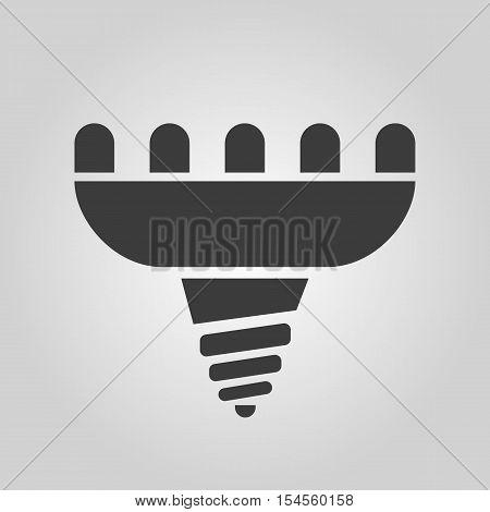 The led lamp icon. Lamp and bulb, lightbulb, CFL, luminodiode symbol.