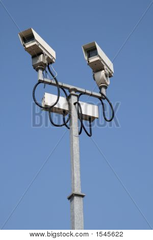 Two Cctv Street Security Cameras.