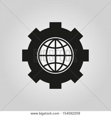 The website optimization icon. WWW and browser, development, seo symbol. UI. Web. Logo. Sign. Flat design. App. Stock vector