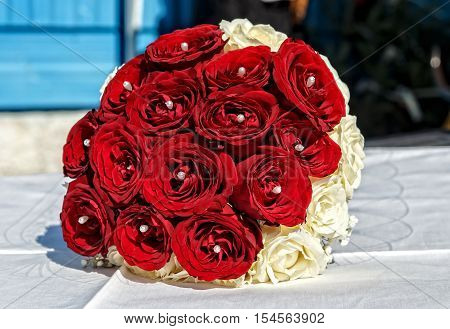 Beautiful wedding bouquet ( wedding arrangement )