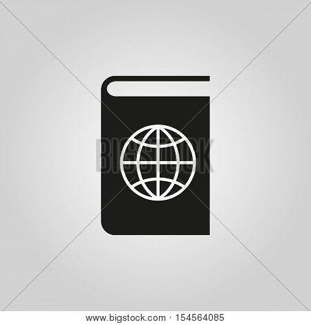 Atlas and globe icon. vector design. Geography symbol. web. graphic.