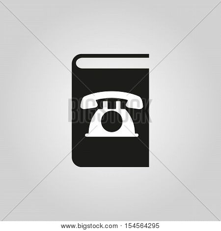 Phonebook icon. vector design. Telephone book symbol. web. graphic.