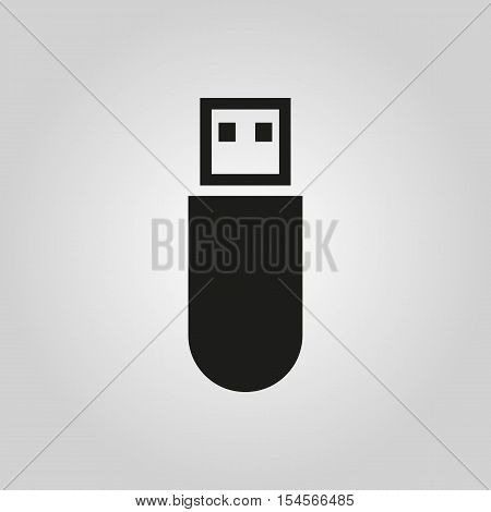 The usb icon. Transfer and connection, data symbol. UI. Web. Logo. Sign. Flat design. App. Stock vector