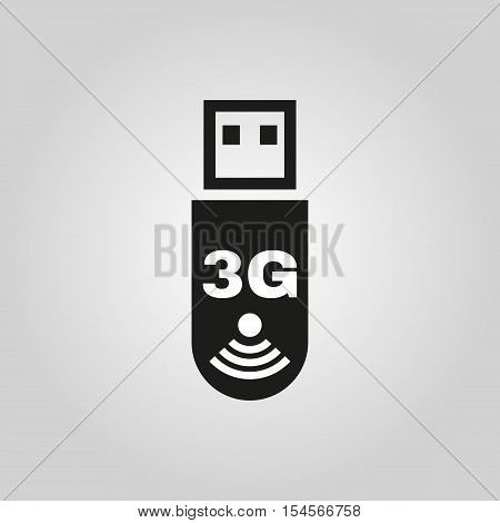 The 3g adapter icon. Transfer and connection, data symbol. UI. Web. Logo. Sign. Flat design. App. Stock vector