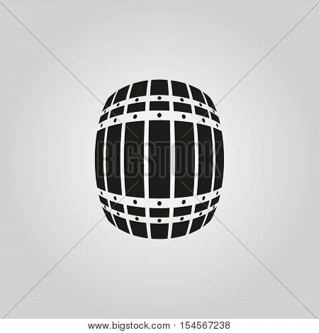 The Barrel icon. Cask and keg, beer symbol. UI. Web. Logo. Sign. Flat design. App. Stock vector