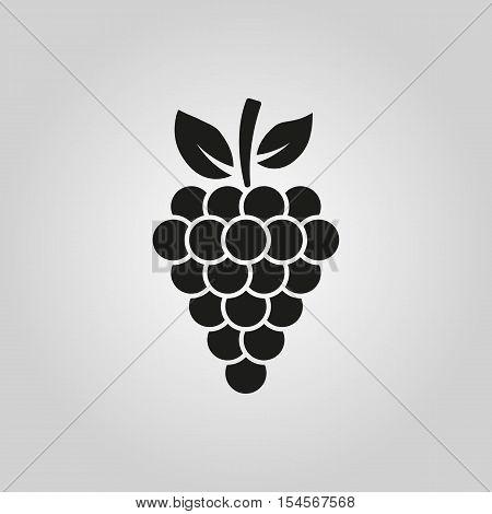 The grapes icon. Grape symbol. UI. Web. Logo. Sign. Flat design. App. Stock vector