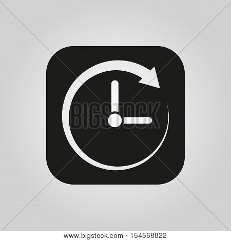Time icon. Time and watch, timer symbol. UI. Web. Logo. Sign. Flat design. App. Stock vector
