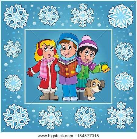 Christmas thematics greeting card 9 - eps10 vector illustration.