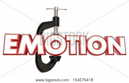 Emotion Suppress Hold Down Inside Clamp Vice Word 3d Illustration