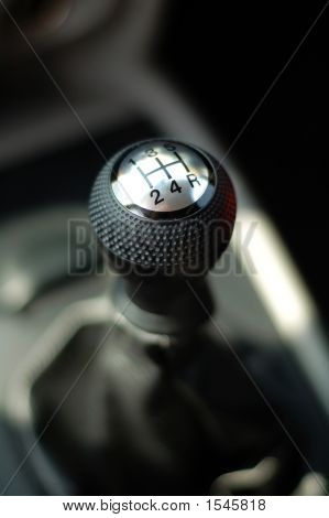 Gear Stick Of Sportive Car