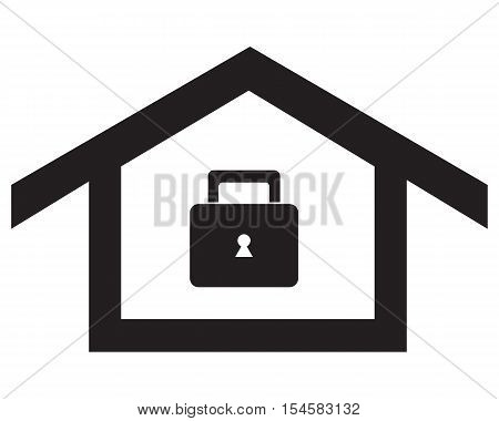 home lock Icon symbol loan secure key business