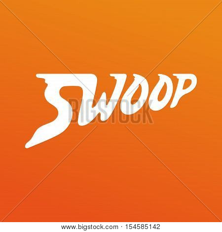 Swoop vector logo design. Lettering vector logo. Calligraphic logotype design