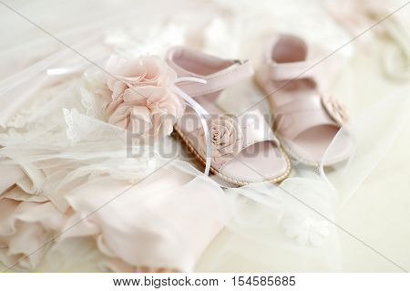 Baby Girl Christening Shoes