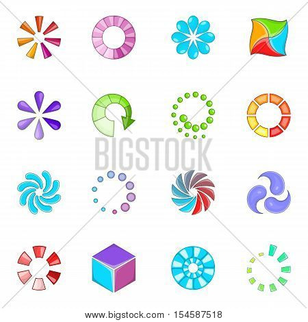 Download status icons set. Cartoon illustration of 16 download status vector icons for web