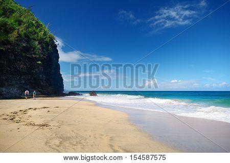 Hanakapiai Beach Of Kalalau Trail