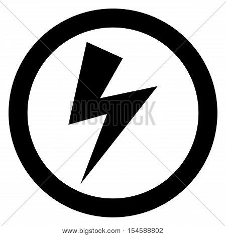 Lightning bolt sign power powerful vector icon thunder