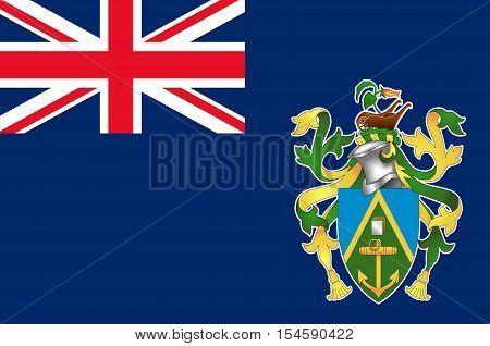 Flag of Pitcairn Islands Adamstown - British Overseas Territory in the Pacific