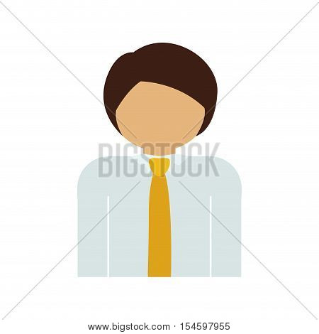 half body man with suit and necktie vector illustration