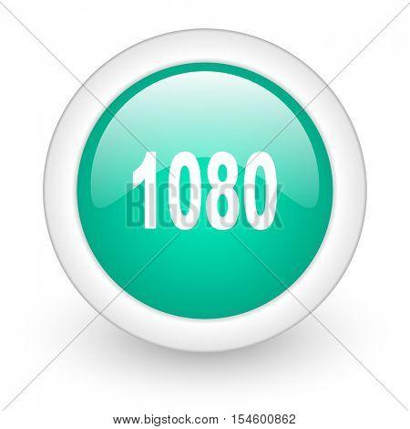 1080 round glossy web icon on white background