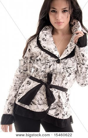 young black hair woman in fashionable clothes