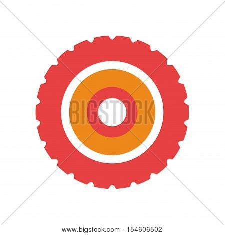 red silhouette toothed pinion icon vector illustration