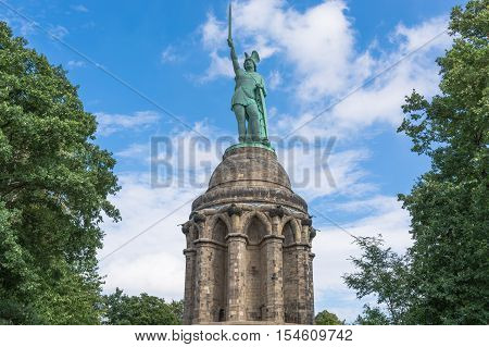 Statue of Cheruscan Arminius in the Teutoburg Forest near the city of Detmold Germany.