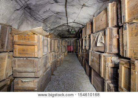 Abandoned bomb shelter hideout in mine WOWII