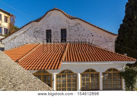 Buiding of old orthodox church in old town of Xanthi, East Macedonia and Thrace, Greece