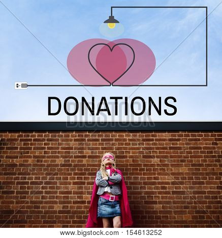 Donations Charity Support Love Care Heart Concept