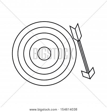 Target icon. Solution successs strategy and idea theme. Isolated design. Vector illustration