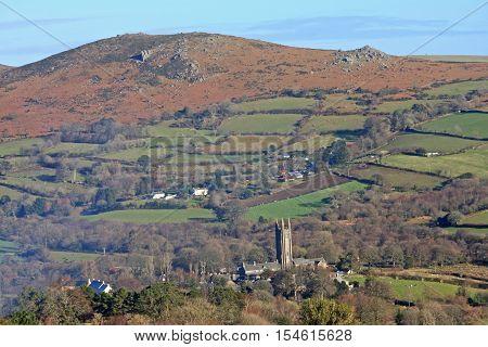 village of Widecombe in the Moor in Dartmoor, Devon
