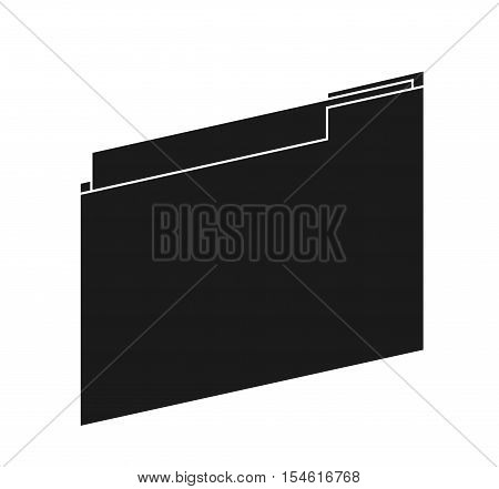 File icon. Folder data archive storage and organize theme. Isolated design. Vector illustration