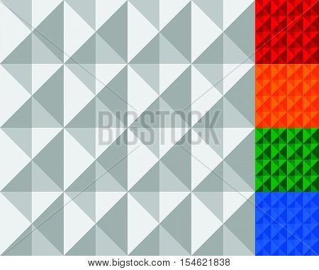 Studded, Geometric Tiles. Set Of More Color