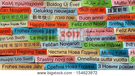 Happy New Year In  Different Languages