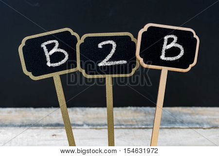 Business Acronym B2B As Business To Business
