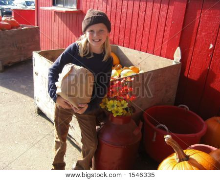 Produce Market Girl