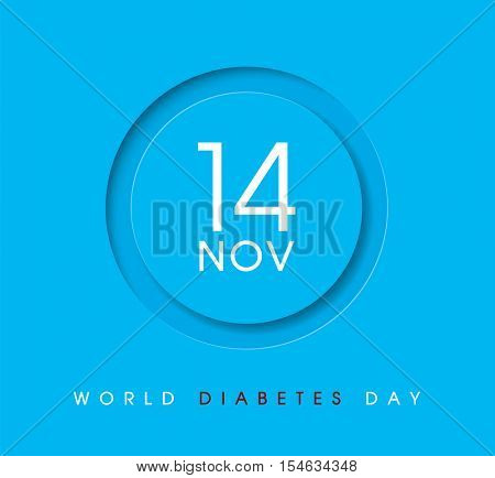 World Diabetes Day 14 November poster. Vector illustration