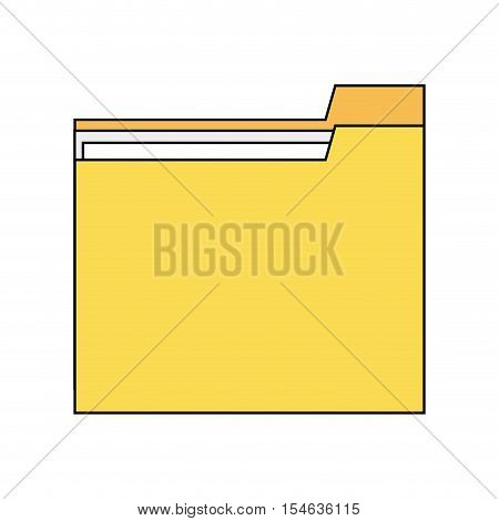 Yellow file icon. Folder data archive storage and organize theme. Colorful and isolated design. Vector illustration