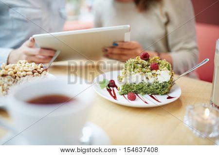 Slice Of Delicious Eco Cake