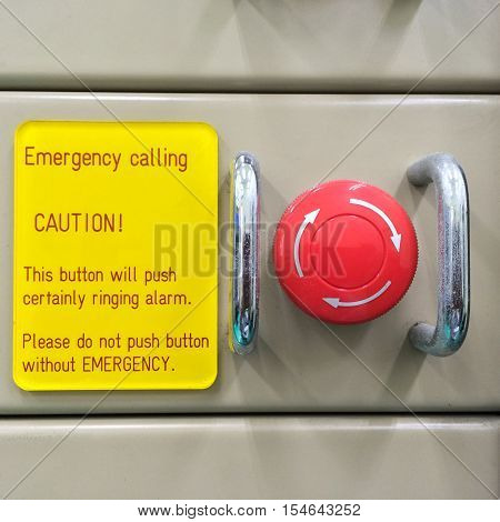 The Pneumatic Switch, Emergency Button, Emergency Switch. Emergency Button On Machine In Factory, Fo