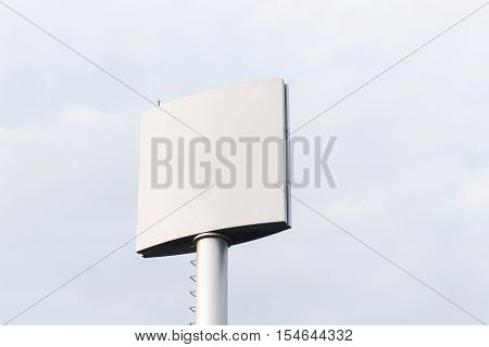 Blank Billboard For Outdoor Advertising Poster Or Blank Billboard At Day Time For Advertisement. Roa