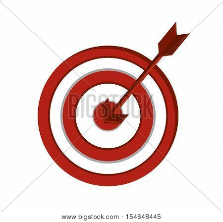 Target icon. Solution successs strategy and idea theme. Colorful and isolated design. Vector illustration