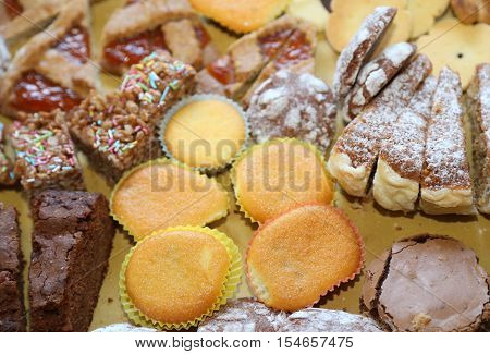 Cookies And Delicious Slices Of Cake At Birthday Party