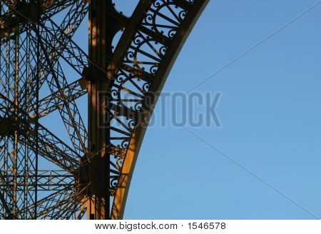 Eiffel Tower Ornate Curve