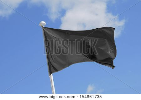 Cleared Black Flag Waving On The Wind