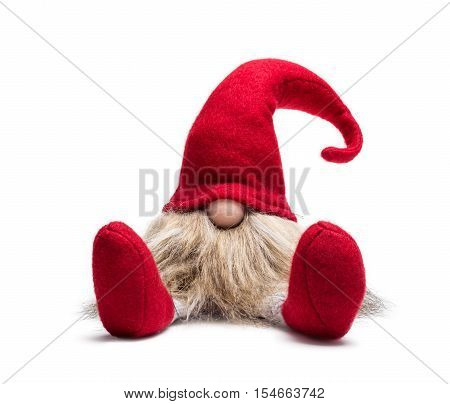 Seated Red Christmas Dwarf