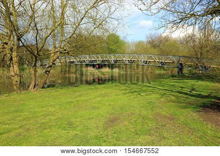 Short bridge over the river Great Ouse in Bedford