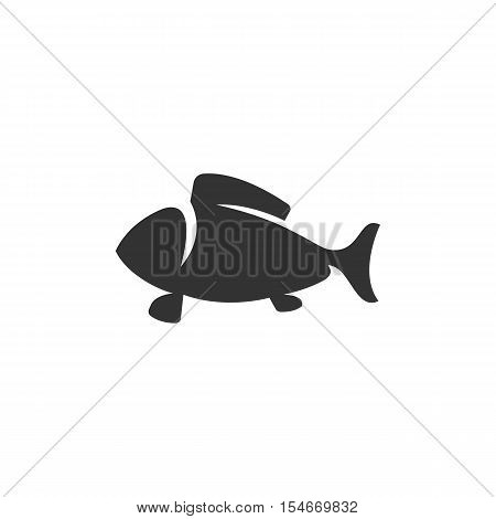 Fish Icon isolated on a white background - stock vector