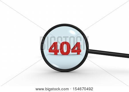 search error 404 white background 3d illustration