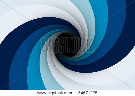 the black hole in the pale blue color 3D illustration